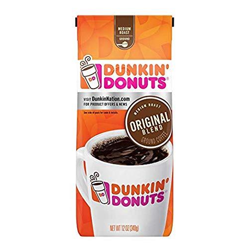 Dunkin' Donuts Original Blend Ground Coffee, Medium Roast, 12 Ounce (Pack of 2)