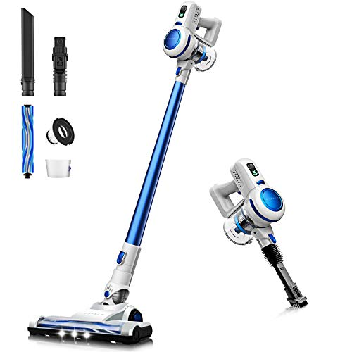 Find Cheap ORFELD Cordless Vacuum, Stick Vacuum Cleaner 4 in 1 with 17000 Pa Powerful Suction, Light...