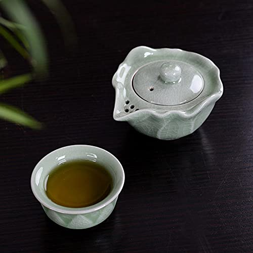 Ksnrang Taza de té Taza de té, Horno, portátil, Viaje, urgente, Taza, Olla, de, Dos Tazas, cerámica, Publicidad, Logotipo de Regalo, Personalizado-Horno gótico, una Olla de una Taza.
