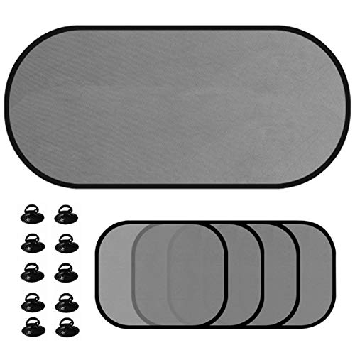 Read About Kongqiabona 5pcs/Set Car Window Sunshade Mesh Auto Sun Visor Curtain with Suction Cup Fro...