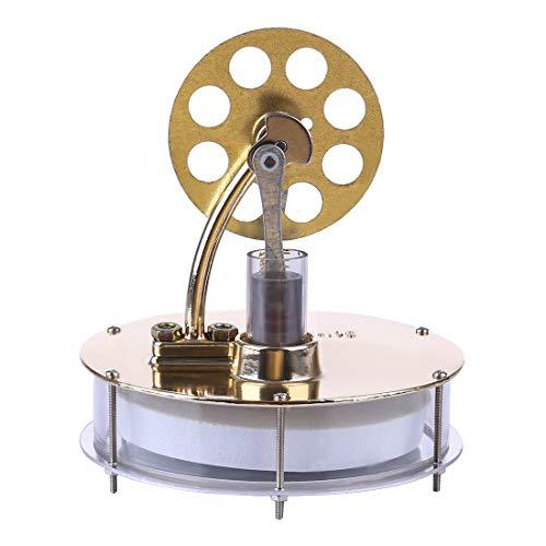 Batop Stirlingmotor Modell, Niedertemperatur Stirlingmotor Metall Stirling Engine Dampfmaschine Modell DIY Physik Unterricht Geschenk Spielzeug