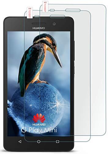 moex 2X 9H Panzerfolie für Huawei G Play Mini | Panzerglas Bildschirm Glasfolie [Tempered Glass] Screen Protector Glas Bildschirmschutz-Folie für Huawei G Play Mini/Honor 4c Schutzfolie