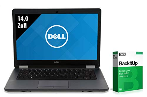 Dell Latitude E5470 | Notebook | 14,0 Zoll | Intel Core i5-6300U @ 2,4 GHz | 8GB RAM | 250GB SSD | WSXGA (1600x900) | Webcam | Windows 10 Pro (Zertifiziert und Generalüberholt)