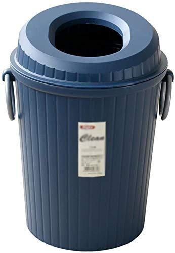 Amerikaanse stijl met Bin plastic vuilnisbak in binnendeksel cilindrische afvalbak slip 9L (Kleur: Blauw), Kleur: Rood (Color : Blue)