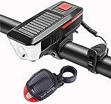 SANCILLO BICICLETE Light USB USB Recargable Bicicleta de Faro Light Light Set MTB Bike Front Light Horn Cicling Lamp Accesorios