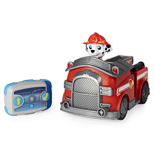 Paw Patrol Camión de Bomberos con Control Remoto Marshall con dirección de 2 vías, para niños de 3 años en adelante