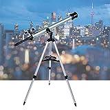 Zoternen Réfracteur télescopique télescopique 900 mm Distance focale Optique avec Cadre de 60 mm pour débutant 67,5 à 135 Fois.