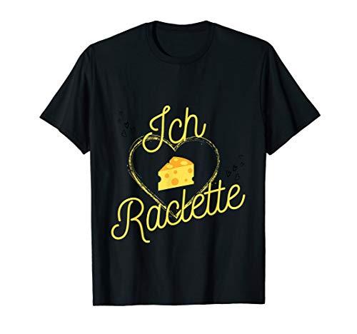 Käse Fan, süßer lustiger Käseliebe Spruch Ich liebe Raclette T-Shirt