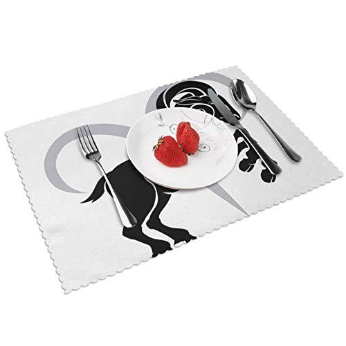 Manteles Individuales Zodiaco Aries 504, Mantel Individual Antideslizante Resistente Al Calor Salvamanteles Juego De 4 para La Mesa De Comedor De Cocina, 45x30 Cm