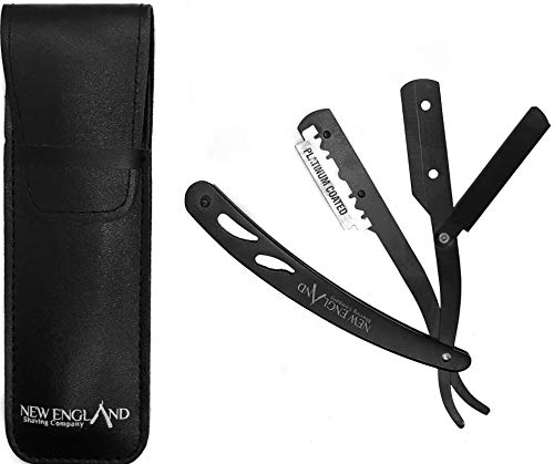 Straight Razor in Leatherette Pouch | For Shaving Enthusiasts, Barbers and Salons - Razor Blade not Included