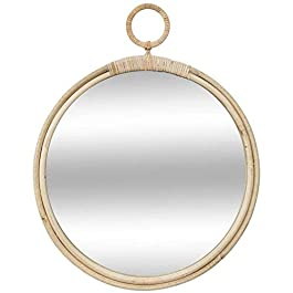 Atmosphera – Miroir en rotin Rond diamètre 38 cm