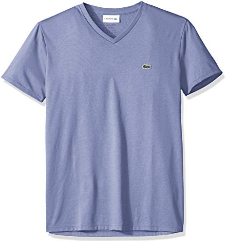 Lacoste Men's Short Sleeve V-Neck Pima Cotton Jersey T-Shirt,Puppy,Medium