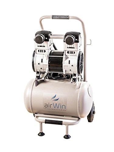 Airwin Leiselauf Druckluft Kompressor ölfrei 1,5 kW/230 V, 8 bar, 20 l Liter Kessel, 250 l/min Ansaugleistung