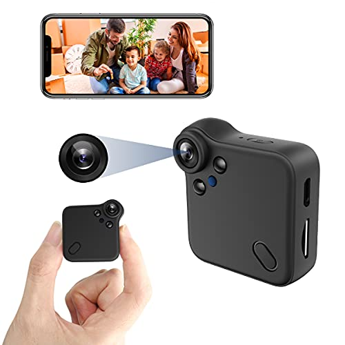 Mini Camera Small Nanny Cam Full HD 1080P Home Live Stream Wireless Security Cameras with Audio and Video Recording,Cell Phone App, Night Vision, Motion Detection WiFi Camera