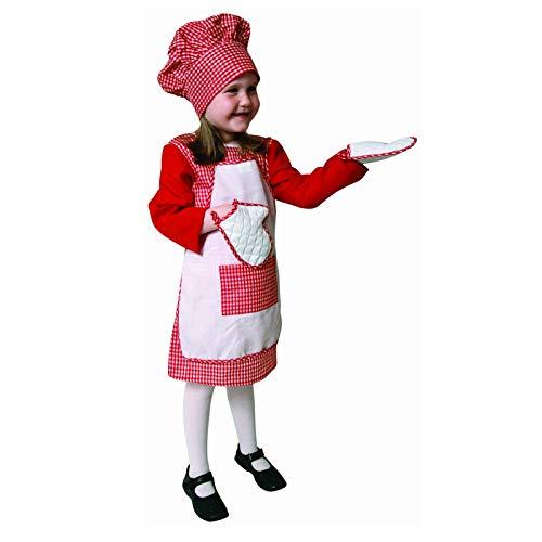Dress Up America Ensemble de Costume Chef Vichy Rouge