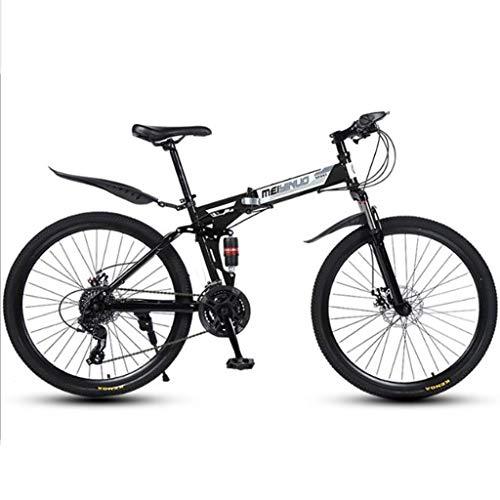 Bicicleta de montaña Mountainbike Bicicleta Barranco plegable Bicicleta 26' Suspensión de doble doble del disco de freno de bicicletas de montaña, 21 24 27 velocidades marco de acero al carbono MTB Bi