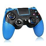 Proslife Wireless Controller para PS4 / Switch, Pro Wireless Gaming Gamepads Joysticks para PS4 Pro / Slim con doble vibración-Azul