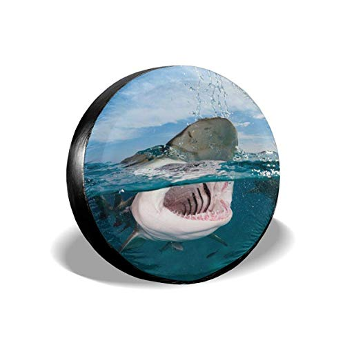 Cubierta De Rueda De Coche Shark Cubierta De Neumático Universal Cubierta De Neumático De Repuesto De Viaje Accesorios De Remolque A Prueba De Polvo 14 Pulgadas