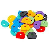 Uniclife 32 PCS Key Cap Covers in 8 Assorted Colors for House Key Label Tags