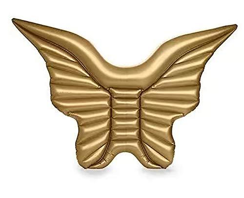 JuneLT Inflables Flotantes Fila ,Fila Flotante Inflable de la Mariposa Dorada en el Agua, Fila Flotante del ala de la Mariposa Blanca Golden