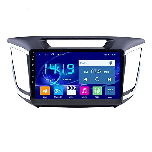 Android 10.0 9 Pulgadas Radio Satelital Para Automóvil Reproductor Multimedia Autoradio 2.5D Navegador GPS Para Hyundai IX25 2015-2018 Soporte WiFi Bluetooth/Control Del Volante(Color:WIFI 1G+16G)