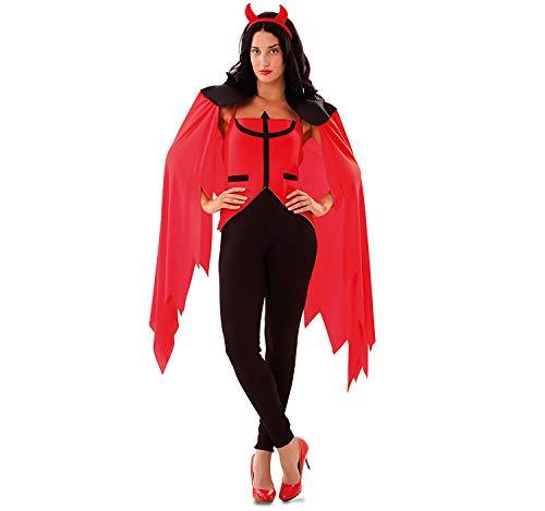 EUROCARNAVALES Disfraz de Diablesa Tridente para Mujer