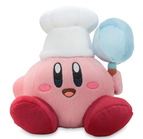 """Little Buddy Official Kirby Adventure Cook Kirby 7"""" Plush Doll"""