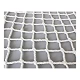 TGHY Child Safety Net Protection Net Rope Stairs Climb Playground Rock Swingset Outdoor Treehouse Nylon Protection Net White 6mm,10cm,22M(77ft)