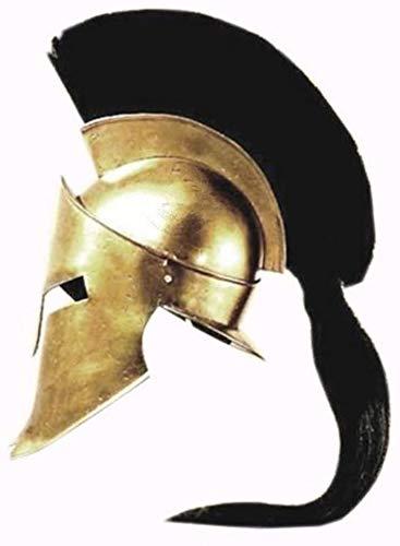 Medieval Spartan Helmet King Leonidas 300 Movie Helmet Replica Role Play Helmet Black Plume