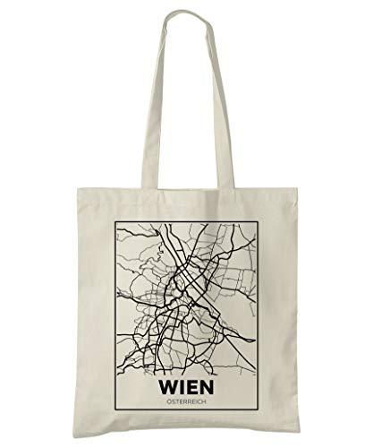 Super Cool Totes Wien, Österreich, Stadtplan Einkaufstasche (Design 4)