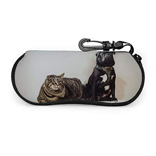 Gafas de sol para cachorro, gafas de sol, gafas de lectura, mosquetón, bolsas de gafas de sol de moda con cremallera portátil