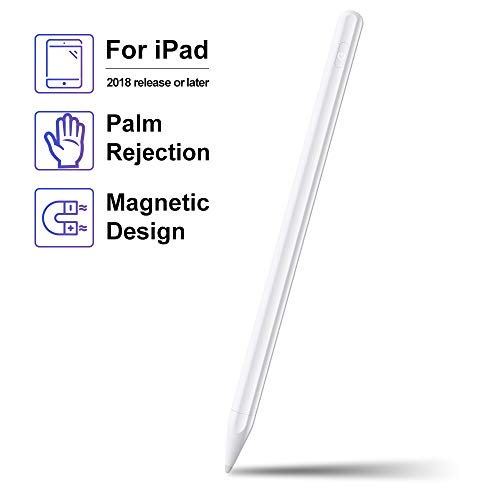 Stylus Pen for iPad with Palm Rejection, Active Stylus with Magnetic Design Compatible with iPad(6th&7th Gen) Air(3rd Gen) Mini(5th Gen) Pro 11/12.9(3rd Gen), High Precise Rechargeable Digital Pencil