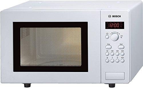 Bosch HMT75M421 Serie 2 Mikrowelle / 800 W / 17 l / Drehteller 24,5 cm / Türanschlag Links / 7 voreingestellte Automatikprogramme / automatische Leistungsstufe nach Gewicht / Weiß