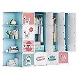ARMOI Kinderzimmer Kleiderschrank Kinderregal Kombischrank modulare Schrank für platzsparendeIdeale Storage