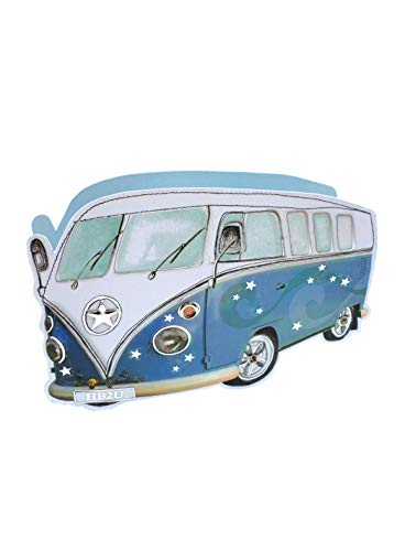 Paper Dazzle Blue Camper Van 3D Birthday Greeting Card Glitter Finished...