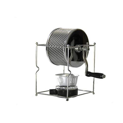 N / E Handkurbel-Kaffeebohnen-Röstmaschine, Kaffeeröster für zu Hause, kleine Edelstahl-Röstmaschine für den Kaffeehaushalt zu Hause