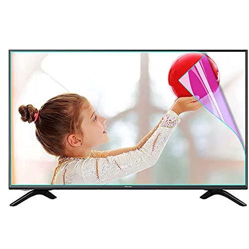 Película Protectora de Pantalla de luz Anti Azul para TV, Protector de Pantalla Anti deslumbramiento Alivia la cepa de Ojos y Dormir Mejor para LCD, LED, OLED & QLED 4K HDTV,60' 1327 * 749mm