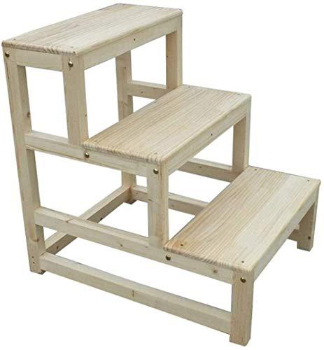 GQQ - Taburete de escalera de madera maciza, escalera de seg