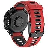 Cakamenshy Correa deportiva de silicona suave ajustable compatible con Forerunner 735XT 220 230 235 235Lite 620 630 Approach S20 S5 S6 bandas para Garmin Smart Watch accesorio