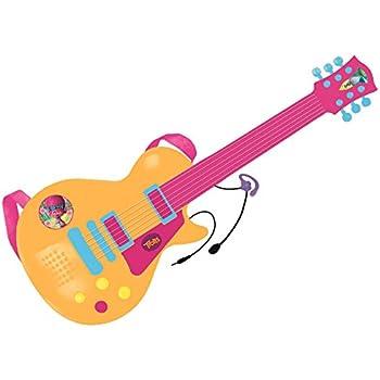 TROLLS Guitarra electrónica y micrófono, 55 x 21 x 4 cm (Reig 3878 ...