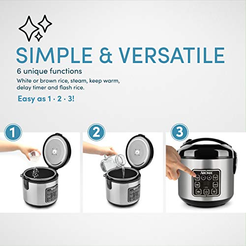 Product Image 4: Aroma Housewares 8-Cup (cooked)/ 2 Quart Digital Cool-Touch Rice Cooker & Food Steamer