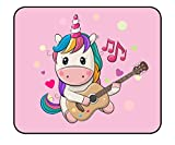 Unicorn Mouse Pad - 11.81 x 9.84 x 0.12 Inch Pink Cute Unicorn Mouse Pad Waterproof Rubber Anti-Slip Gaming MousePads for Girls Kids Teens
