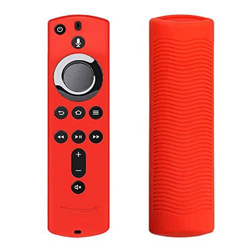 Cover protettiva per telecomando in silicone per Fire TV Stick 4K / Fire TV (terza generazione) / Fire TV Cube, robusta custodia in fluorescente, 6 colori