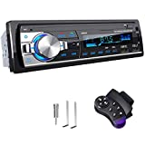 RDS Autoradio Bluetooth Main Libre, CENXINY 4 x 65W Poste Radio Voiture Bluetooth 5.0 LCD avec Horloge, Supporte USB/AUX in FM/AM/MP3/WMA/WAV/MPE/RDS Stéréo Radio Voiture