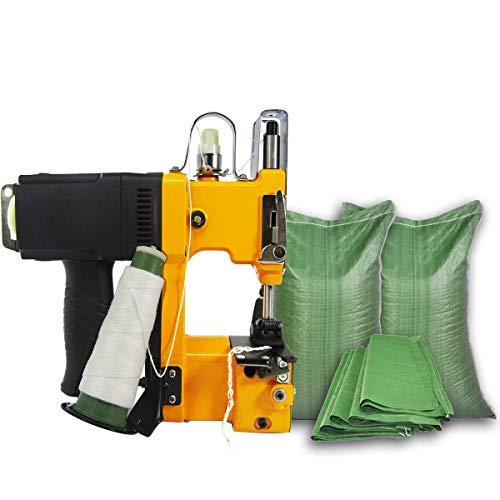Máquina de coser portátil Máquina,Cerradora de bolsas Eléctrica, Máquina de cierre de bolsas industriales Máquina de cierre para bolsas de piel de serpiente tejidas Saco Bolsa de plástico 190W