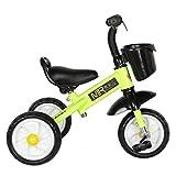 TCBIKE Rígida Triciclo niño, Planeo Aprender a Montar Bicicleta de Equilibrio para niños Cesta Bicicleta de Entrenamiento Deportivo para Las Edades 1,2,3 Primera Moto-C
