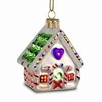 Addobbi per l'albero di Natale dipinti e decorati con amorevoli La decorazione è costituita da vetro soffiato a bocca ed è rivestita all'interno di vernice argentata. Questo assicura un'elevata luminosità dei colori Perfetti per decorare l'albero di ...