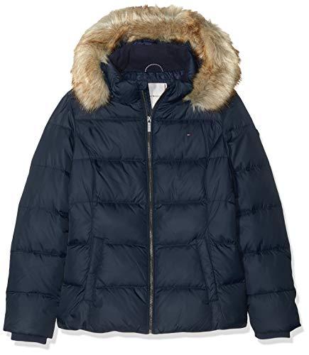 Tommy Hilfiger Mädchen Essential Basic DOWN Jacket Jacke, Blau (Blue 002), (Herstellergröße:5)