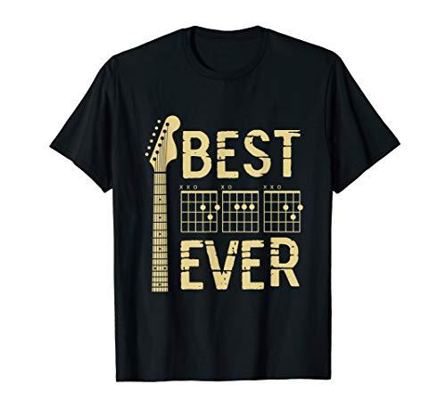 Guitarist Father Best Dad Ever D A D Chord Gifts Guitar T-Shirt