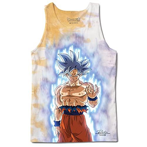 Primitive x Dragon Ball Super Men's Goku Ultra Instinct Washed Sleeveless Tank Top Shirt Orange M
